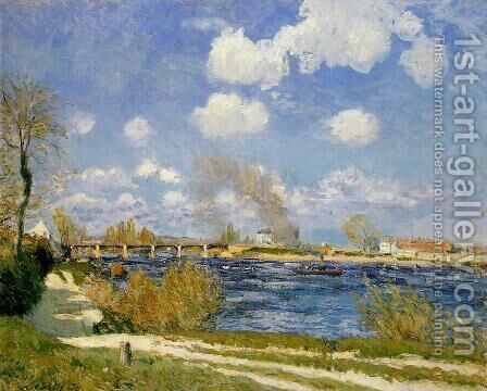 Bougival by Alfred Sisley - Reproduction Oil Painting