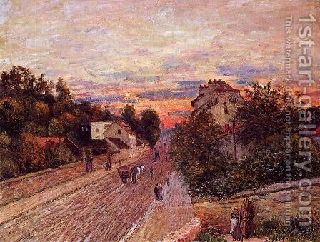Sunset at Port-Marly by Alfred Sisley - Reproduction Oil Painting