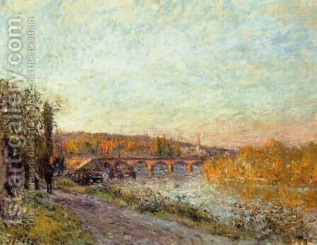 The Sevres Bridge by Alfred Sisley - Reproduction Oil Painting