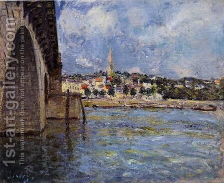 The Bridge at Saint-Cloud by Alfred Sisley - Reproduction Oil Painting