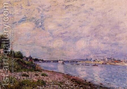 Bougival I by Alfred Sisley - Reproduction Oil Painting