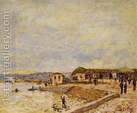 Seine at Daybreak by Alfred Sisley - Reproduction Oil Painting