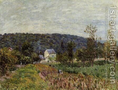 An Autumn Evening near Paris by Alfred Sisley - Reproduction Oil Painting