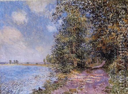 An August Afternoon near Veneux by Alfred Sisley - Reproduction Oil Painting