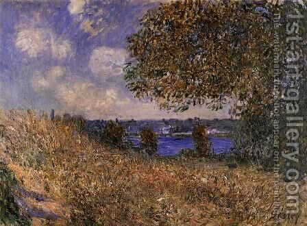 Near the Bank of the Seine at By by Alfred Sisley - Reproduction Oil Painting
