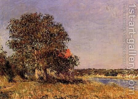The Plain of Thomery and the Village of Champagne by Alfred Sisley - Reproduction Oil Painting