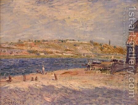 Riverbanks at Saint-Mammes by Alfred Sisley - Reproduction Oil Painting