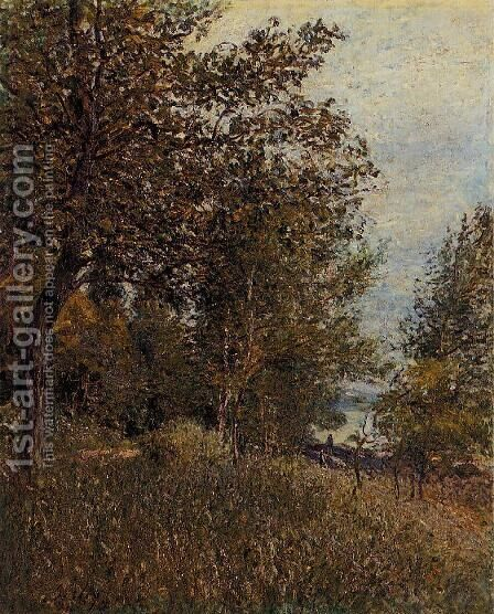 A Corner of the Roches-Courtaut Woods, June by Alfred Sisley - Reproduction Oil Painting