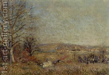 The Plain of Veneux, View of Sablons by Alfred Sisley - Reproduction Oil Painting