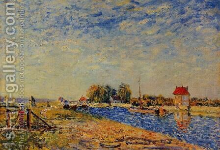 Morning Sun, Saint-Mammes by Alfred Sisley - Reproduction Oil Painting