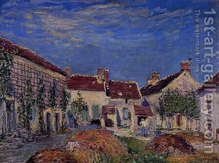 Courtyard at Les Sablons by Alfred Sisley - Reproduction Oil Painting