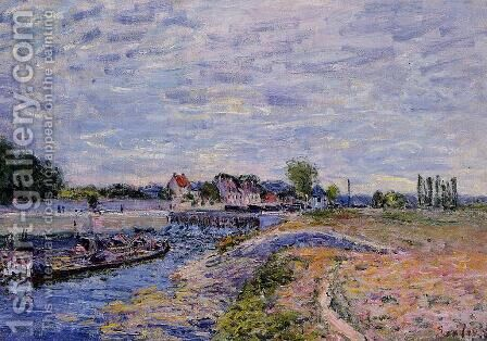 Saint-Mammes Dam by Alfred Sisley - Reproduction Oil Painting