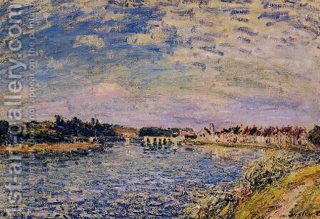 Saint-Mammes - Evening by Alfred Sisley - Reproduction Oil Painting