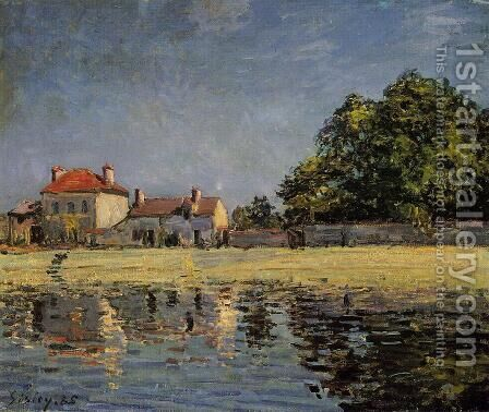 Banks of the Loing, Saint-Mammes by Alfred Sisley - Reproduction Oil Painting