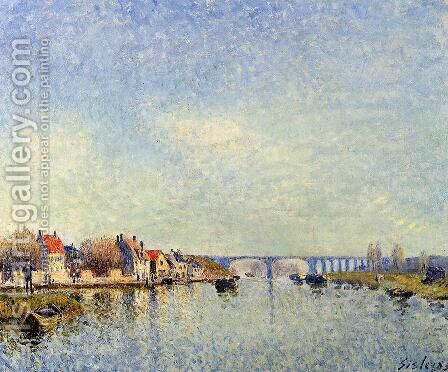 Banks of the Loing at Saint-Mammes I by Alfred Sisley - Reproduction Oil Painting