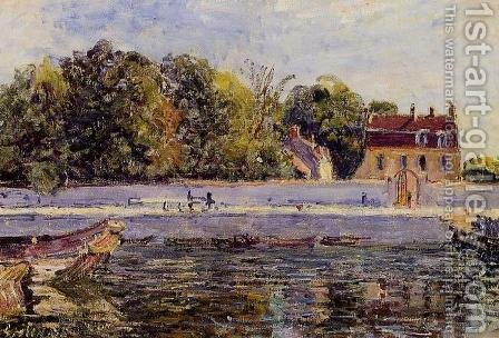 Saint-Mammes - House on the Canal du Loing by Alfred Sisley - Reproduction Oil Painting