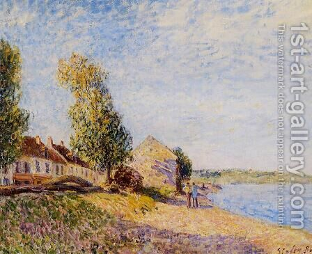 Saint-Mammes I by Alfred Sisley - Reproduction Oil Painting
