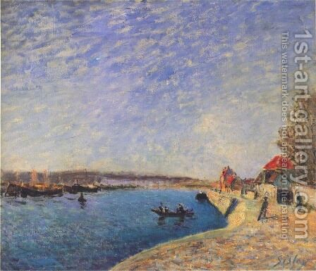 Saint-Mammes and the Banks of the Loing by Alfred Sisley - Reproduction Oil Painting