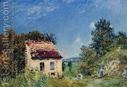 Abandoned House I by Alfred Sisley - Reproduction Oil Painting