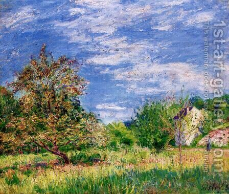 Orchard in Spring I by Alfred Sisley - Reproduction Oil Painting