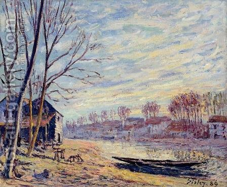 Matrat Cottages by Alfred Sisley - Reproduction Oil Painting