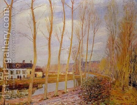 The Loing Canal at Moret by Alfred Sisley - Reproduction Oil Painting