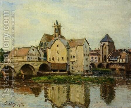 Moret-sur-Loing, Morning by Alfred Sisley - Reproduction Oil Painting