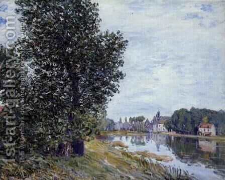 At Moret-sur-Loing by Alfred Sisley - Reproduction Oil Painting