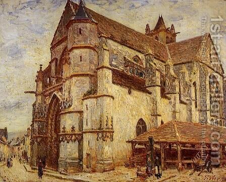 The Church at Moret, Icy Weather by Alfred Sisley - Reproduction Oil Painting
