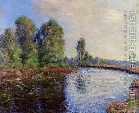 Banks of the Loing I by Alfred Sisley - Reproduction Oil Painting