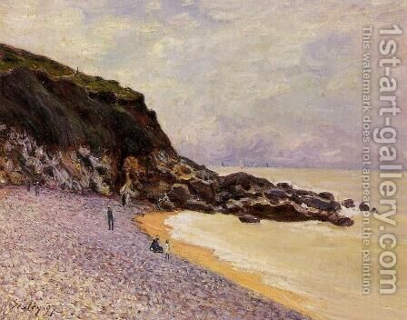 Lady's Cove before the Storm (Hastings) by Alfred Sisley - Reproduction Oil Painting
