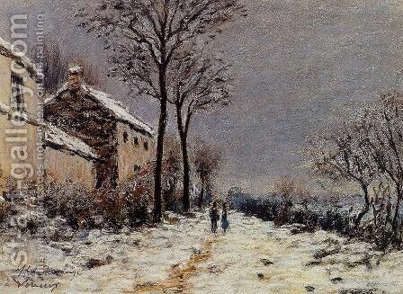 Snow Effect at Veneux I by Alfred Sisley - Reproduction Oil Painting