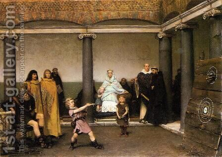 The Education of the Children of Clovis I by Sir Lawrence Alma-Tadema - Reproduction Oil Painting