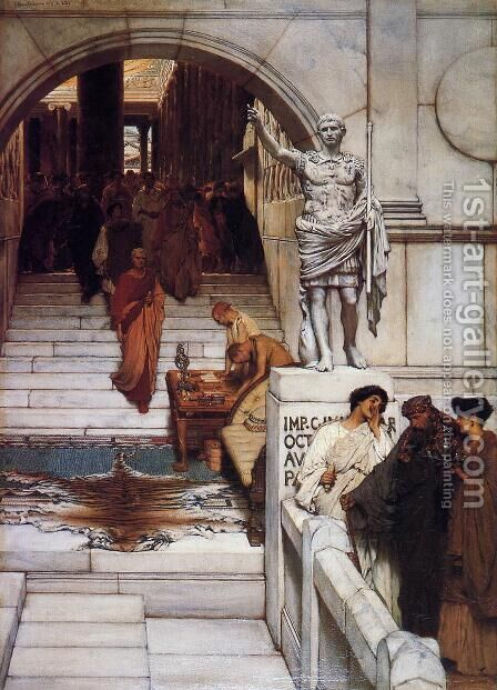 An Audience at Agrippa's by Sir Lawrence Alma-Tadema - Reproduction Oil Painting