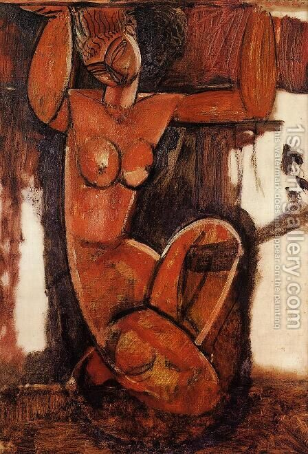Caryatid I 2 by Amedeo Modigliani - Reproduction Oil Painting