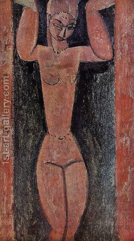Caryatid II 2 by Amedeo Modigliani - Reproduction Oil Painting