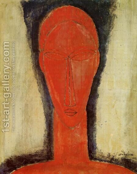 Study of a Head by Amedeo Modigliani - Reproduction Oil Painting