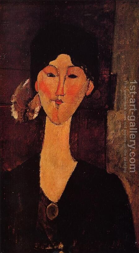 Portrait of Beatrice Hastings I by Amedeo Modigliani - Reproduction Oil Painting