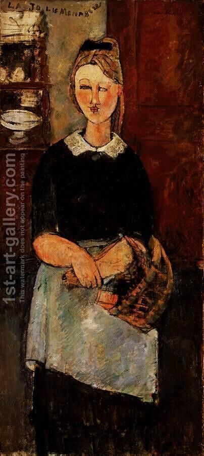 The Pretty Housewife by Amedeo Modigliani - Reproduction Oil Painting