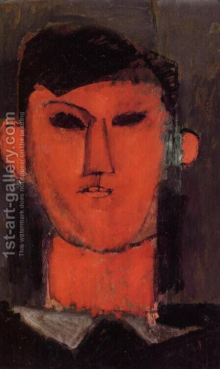 Portrait of Picasso by Amedeo Modigliani - Reproduction Oil Painting