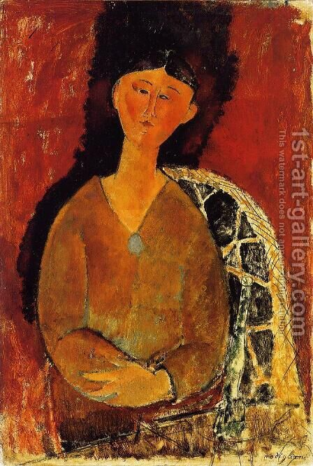 Beatrice Hastings, Seated by Amedeo Modigliani - Reproduction Oil Painting