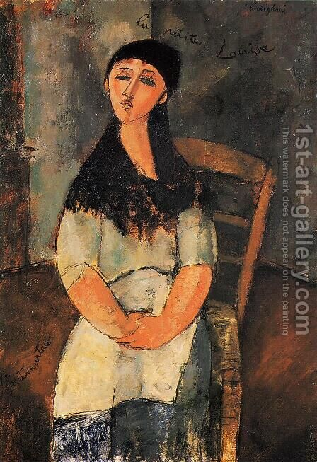 Little Louise by Amedeo Modigliani - Reproduction Oil Painting