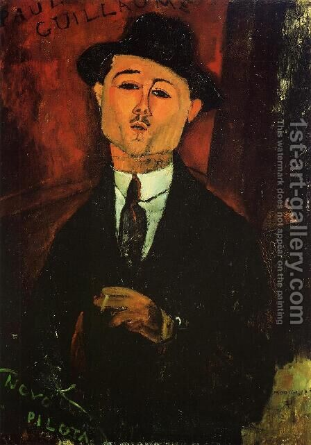 Portrait of Paul Guillaume - Novo Pilota by Amedeo Modigliani - Reproduction Oil Painting