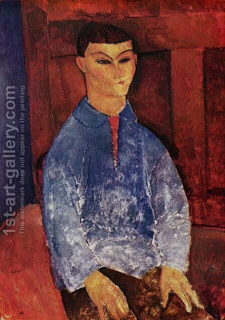 Portrait of the Painter Moise Kisling I by Amedeo Modigliani - Reproduction Oil Painting