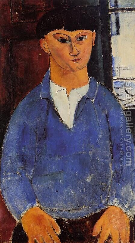 Portrait of Moise Kisling I by Amedeo Modigliani - Reproduction Oil Painting