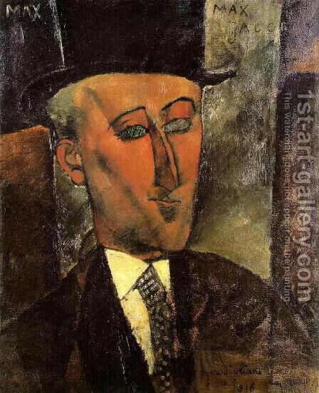Portrait of Max Jacob by Amedeo Modigliani - Reproduction Oil Painting