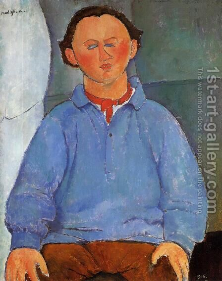 Portrait of Oscar Meistchaninoff by Amedeo Modigliani - Reproduction Oil Painting