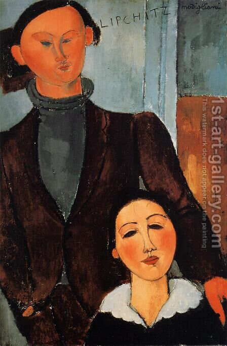 Jacques Lipchitz and His Wife by Amedeo Modigliani - Reproduction Oil Painting