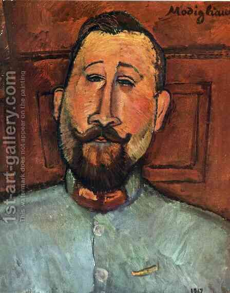 Portrait of Doctor Devaraigne by Amedeo Modigliani - Reproduction Oil Painting