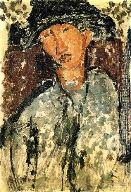Chaim Soutine I by Amedeo Modigliani - Reproduction Oil Painting